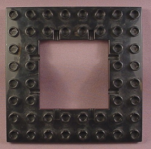 Lego duplo 51705 black 8x8 plate with trap door hole hinge points 4776 4785 dragon rons Trap door hinges