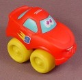 Playskool Tonka Wheel Pals Red #9 Racer Race Car With Yellow Wheels, 2 1/2 Inches Long