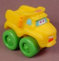 Playskool Tonka Wheel Pals Yellow Dump Truck With Green Wheels, 2 1/2 Inches Long, 2005