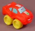 Playskool Tonka Wheel Pals Red Race Car With Yellow Wheels & White Stripes, 2 1/2 Inches