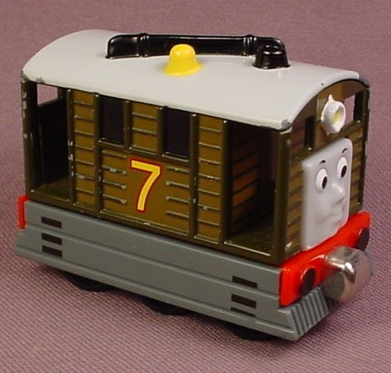 Thomas The Tank Engine Toby #7 Tram Engine Cable Car, Take N Play, Take Along, 2002