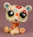 Littlest Pet Shop #2343 Tan Polar Bear With Glitter & Sparkle Fancy Designs, 2007 Hasbro
