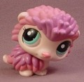 Littlest Pet Shop #2219 Purple & Pink Hedgehog With Aqua Blue Eyes, 2008 Hasbro