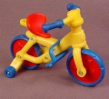 Caillou Bicycle With Training Wheels, 3 3/4 Inches Long, 2002 Irwin, Cinar