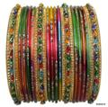 Set of 24 Multi Color Indian Bangles Set