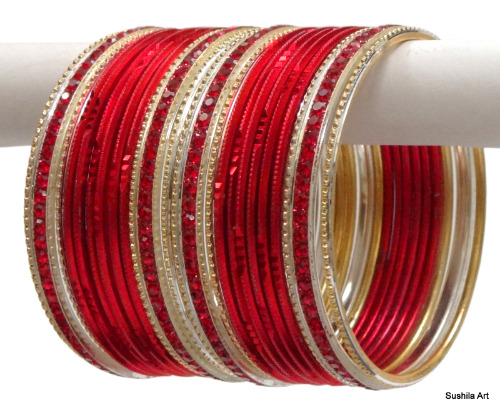 Beautiful Indian Ethnic Bangles Costume Matching Belly Dance Bracelets Red