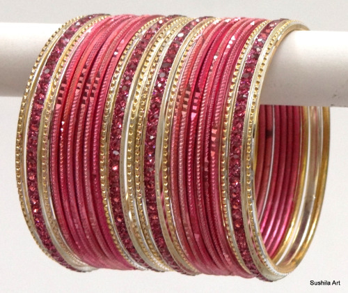 Indian Ethnic Bangles Costume Matching Bollywood Belly Dance Bracelets Peach