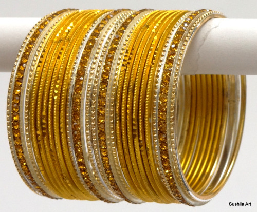 Indian Ethnic Bangles Costume Matching Belly Dance Bracelets Golden