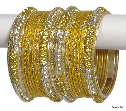 Indian Ethnic Bangles Costume Bollywood Belly Dance Bracelets Golden & Silver