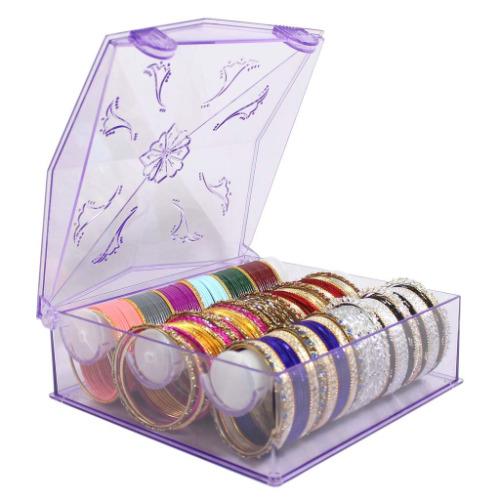 Assorted 12 Set Indian Bangles Belly Dance Ethnic Bracelets FREE Fiber Storage BOX