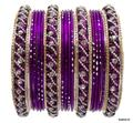Beautiful Indian Bangles Kundan Studded Belly Dance Bracelets Magenta