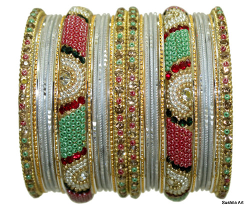 Indian Traditional Bangles Belly Dance Costume Matching Multi-Color Bracelets