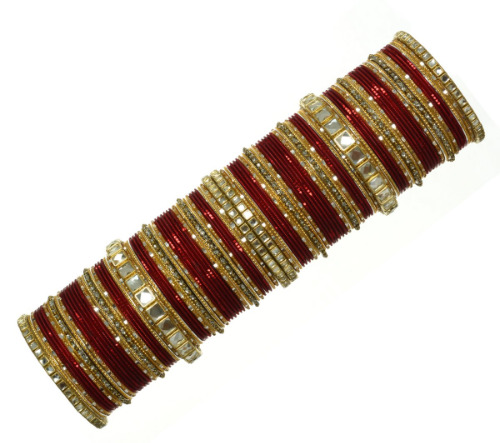Indian Traditional Bangles Bollywood Costume Jewelry Wedding Bracelets Maroon