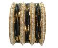 Black & Gold Color Ethnic Belly Dance Indian Bangles Fashion Bracelet Set