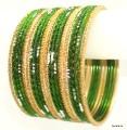 Mehendi Green Belly Dance Indian Ethnic Bangles Metal Bracelet Set