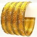 Gold Color Belly Dance Indian Bangles Ethnic Metal Bracelet Set Of 20
