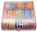 Indian Metal Bangles Bracelet Set with Free Jewelery Storage Box (87).jpg