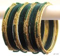 Bottle Green & Gold Color Indian Belly Dance Costume Bangles Bracelet set of 24