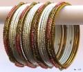 White & Pink Poth Color Indian Belly Dance Costume Bangles Bracelet set of 24