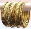 Cream & Gold Color Indian Belly Dance Costume Bangles Bracelet set of 24