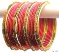 Peach & Gold Color Indian Belly Dance Costume Bangles Bracelet set of 24