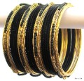 Black & Gold Color Indian Belly Dance Costume Bangles Bracelet set of 24