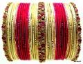 Pink, Cream Gold Beautiful Indian Belly Dance Bangles Bracelets set