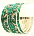 Sari Matching Indian Bangles Bottle Green Color Ethnic Metal Bracelet
