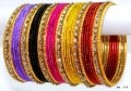 Multicolor Indian Sari Matching Bangles Belly Dance Metal Bracelets Set of 38