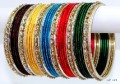 Beautiful Multicolor Indian Ethnic Dress Matching Bangles Belly Dance Metal Bracelets