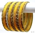 Indian Ethnic Belly Dance Costume Metal Bangles Gold Tone Bracelet Set