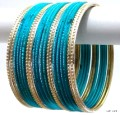 Teal Green & Gold Indian Bangles Jewellery Costume Matching Bracelet Set