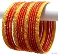 Rusty Orange & Golden Color Indian Bangles Ethnic Belly Dance Bracelet Set