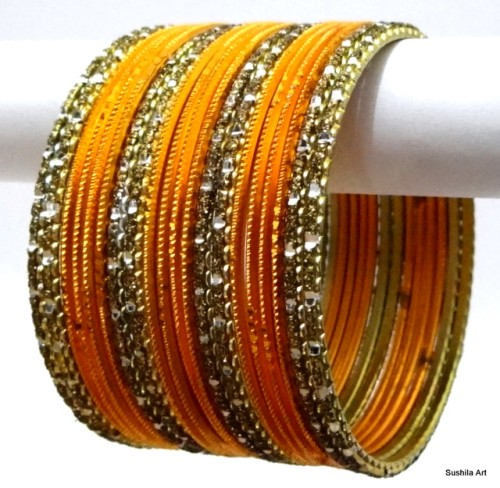 Antique & Haldi Indian Bangles jewellery Ethnic Belly Dance Bracelet Set
