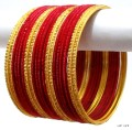 Red & Gold Indian Bangles Jewellery Bollywood Costume Matching Bracelet Set