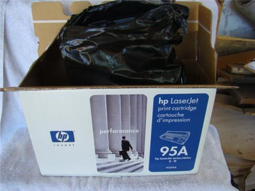Opened box hewlett packard laserjet 95a toner cartridge for 92295a