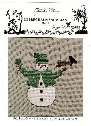 Sigrid Thimb Elena Leprechaun Snowman March Cross Stitch