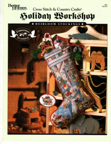 Bh g holiday workshop heirloom christmas stocking cross stitch stash Bhg g