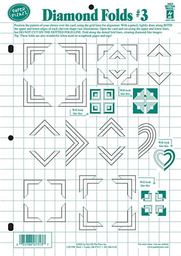 hot off the press diamond folds 3 template paper wishes cross