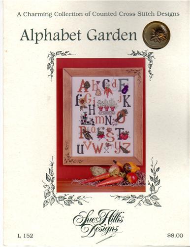Sue hillis designs alphabet garden with charms cross for Alphabet garden designs