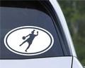 EURO OVAL Die Cut VINYL CAR DECAL Wall Sticker Soccer Player Futbol Female Kicking Goal.jpeg