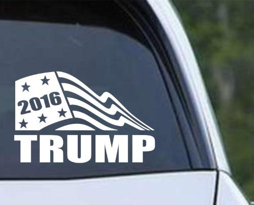 Donald Trump  Flag Die Cut Vinyl Decal Sticker Texas Die Cuts - Custom vinyl window stickers   for your political campaign