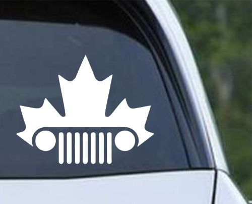Jeep Canadian Maple Leaf Die Cut Vinyl Decal Sticker Texas Die Cuts - Vinyl decal stickers canada