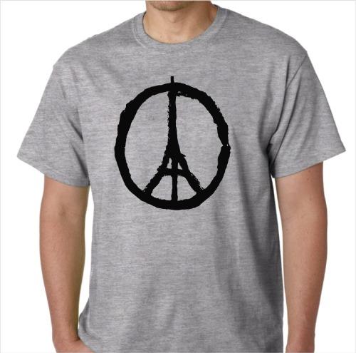 Peace in Paris Shirt GRY