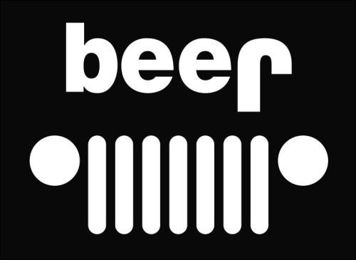 Jeep beer Die Cut Vinyl Decal Sticker