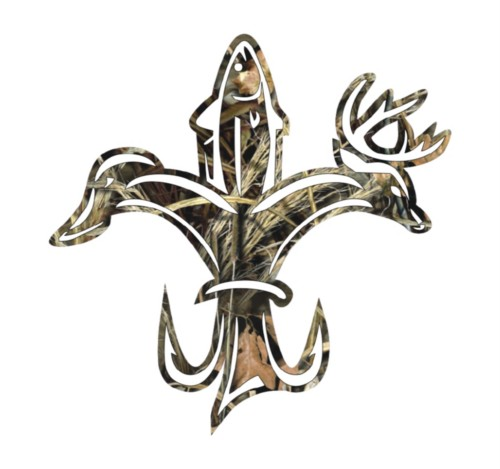 Duck Fish Deer Fleur De Lis Camo Die Cut Vinyl Decal Sticker Texas