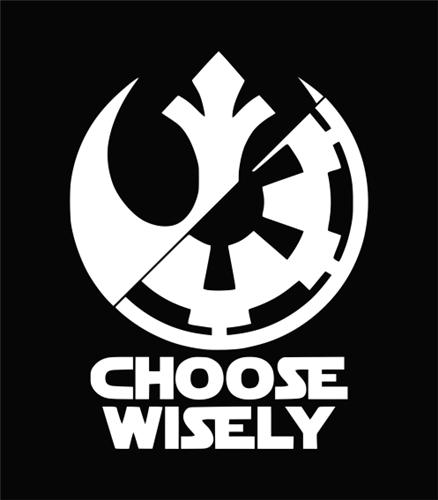 Star Wars Rebel And Imperial Symbol Star wars - choose wiselyStar Wars Rebel Logo