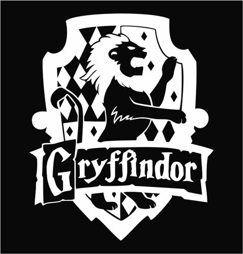 Hogwarts Seal Black And White Harry potter gryffindor house