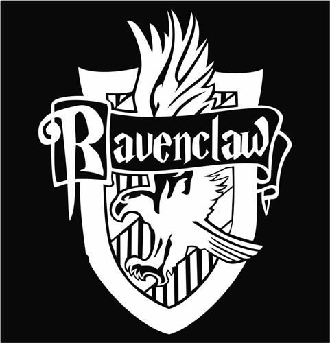 Ravenclaw logo colouring pages