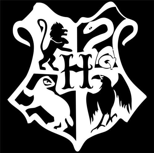 Ravenclaw Crest Black And White Harry potter hogwarts crest